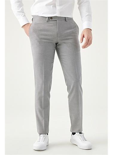 TWN Slim Fit Armürlü Kumaş Pantolon Bej